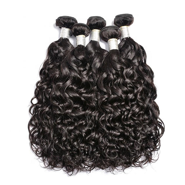 3 Bundles Deal Water Wave Brazilian Virgin Human Hair Weave Bundles.
