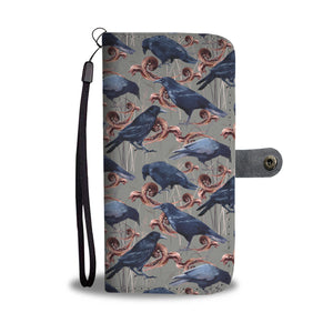 Crows and Leaves wallet case