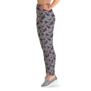Crows and Leaves leggings