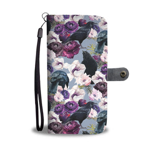 Crows and Flowers Custom Design Wallet Case