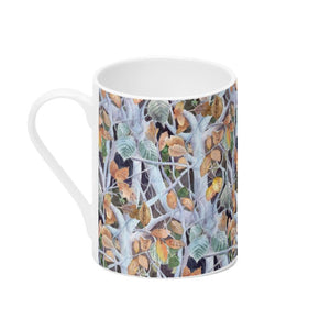Frozen Leaves Bone China Mug