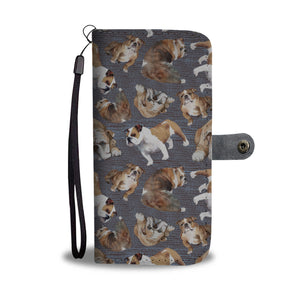 Bulldog repeat Pattern Custom Designed Wallet Case