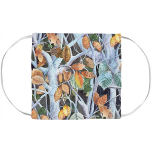 Frozen Leaves Boho Designer Face Mask
