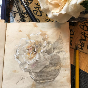 Antique Rose Watercolour