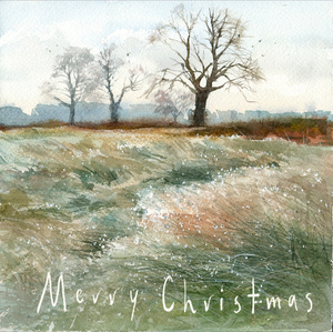 Bushy Park on a Cold Morning - Christmas Greeting card