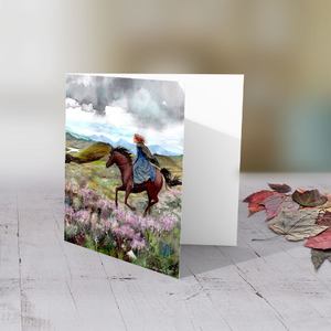 Chasing the Wind - Greeting card