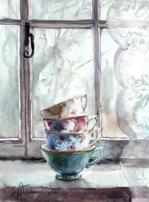 Cups By the Window