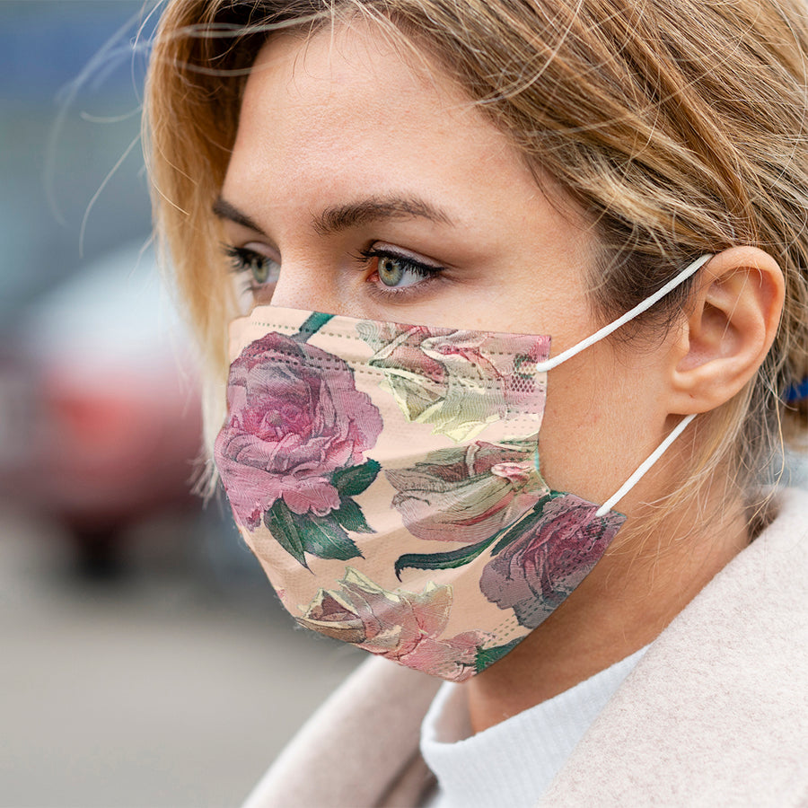 Boho Roses Face Mask Cover