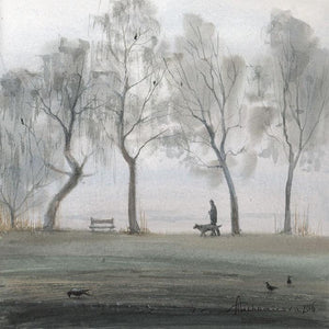 Foggy Morning - Greeting Card