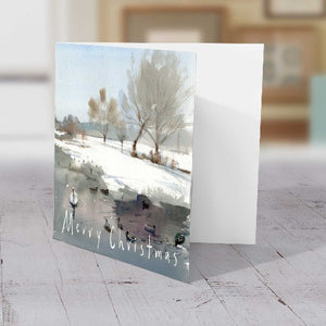 Ham Pond in Winter - Christmas Greeting card