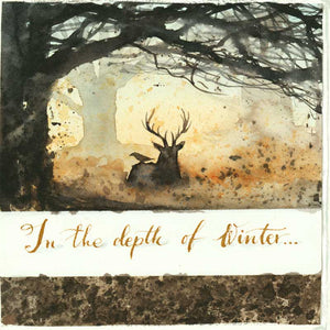 In the Depth of Winter - handmade watercolour greeting card