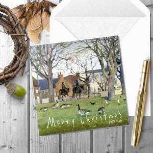 Morning Ride through Ham Common - Christmas Greeting card