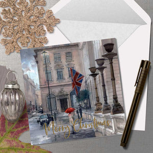 Rainy Evening on Pall Mall - Christmas Greeting card