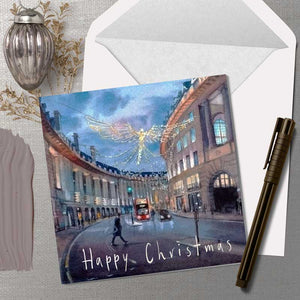 Christmas Lights on Regent Street - Christmas Greeting card