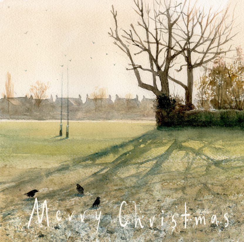 Winter Sunrise in Teddington - Christmas Greeting card