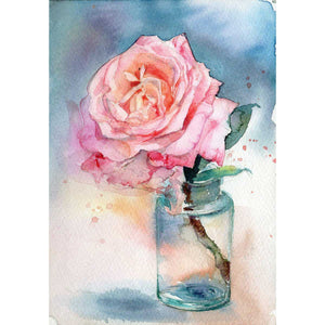 Pink Rose in the Apothecary Bottle