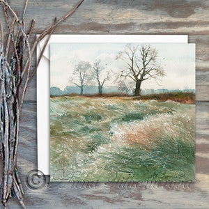 Bushy Park on a Cold Morning - Greeting card