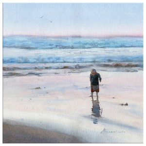 Child By The Sea canvas print