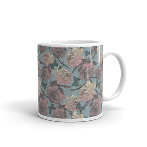 Faded Roses Custom Printed Mug