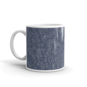 Tiny Grey Flowers Custom Printed Mug