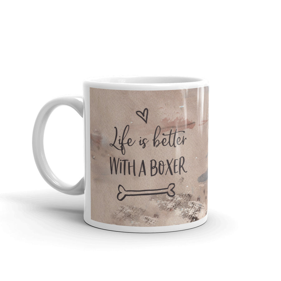 Life is better with a Boxer Custom Printed Mug