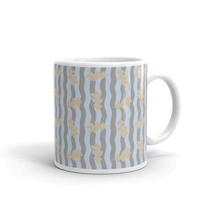 Winter Oak Leaves Custom Printed Mug