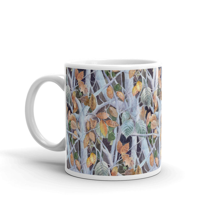 Frozen Leaves Custom Printed Mug