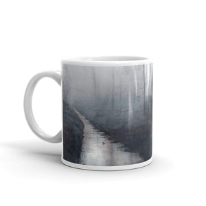Forest Stream at Dawn Custom Printed Mug