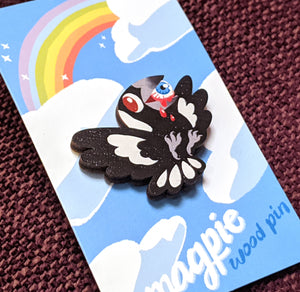 Murderbird Magpie Wood Pin