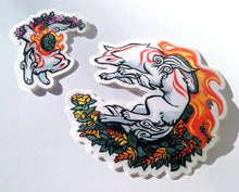 Load image into Gallery viewer, Amaterasu and Chibiterasu Okami Vinyl Stickers