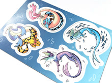 Load image into Gallery viewer, Vaporeon and MIlotic Vinyl Sticker Sheet