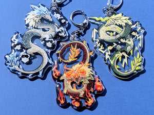 BOTW Celestial Dragons: Naydra, Dinraal and Farrosh Acrylic Keychains