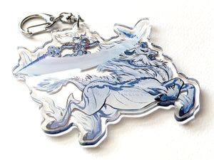 Kirin VS Palico MHW Monster Hunter Acrylic Charm Keychain