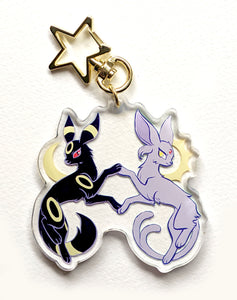 Nightvees! Espeon and Umbreon Acrylic Keychain Charm