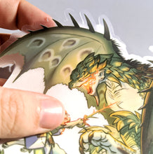 Load image into Gallery viewer, MHW Rathian 5 Inch Clear Vinyl sticker