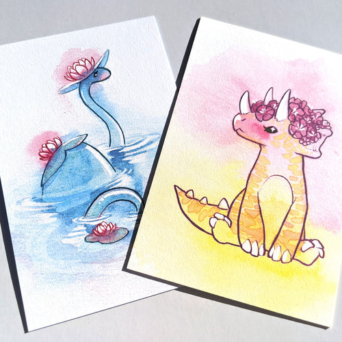 Sweet Saurian postcards