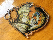 Load image into Gallery viewer, Rathian VS Palico Charm Keychain