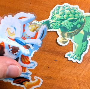 Chinese Lion 3.5-Inch Vinyl Stickers
