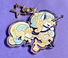 Load image into Gallery viewer, CAROUSEL Galarian RAPIDASH Acrylic Keychain Charm