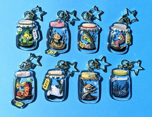POKEBUGS Bug-Type Pokemon Acrylic Charms