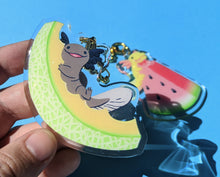 Load image into Gallery viewer, Fruity Melon Snaxolotl Axolotl Acrylic Keychains