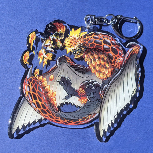 Bazelgeuse and Seething Bazelgeuse Acrylic Charm Keychain