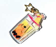 Load image into Gallery viewer, Bubble Tea Axolotl Acrylic Keychain