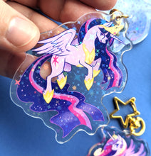 Load image into Gallery viewer, MLP Alicorn Princess Quartet Acrylic Keychains