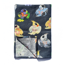 Load image into Gallery viewer, Aussie Parrots Linen Art Tea Towel