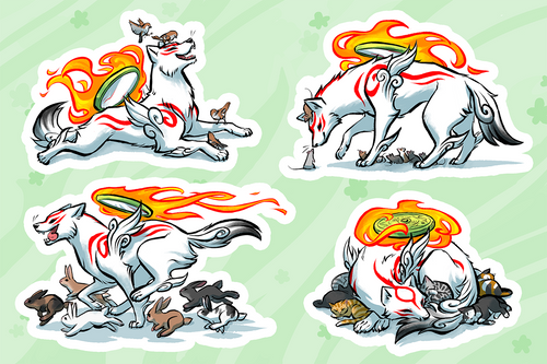 Amaterasu and Friends Vinyl Sticker Sheet