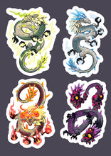 Load image into Gallery viewer, Zelda Celestial Dragons (Naydra, Dinraal, Farrosh) Vinyl Sticker Sheet