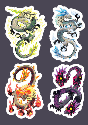 Zelda Celestial Dragons (Naydra, Dinraal, Farrosh) Vinyl Sticker Sheet