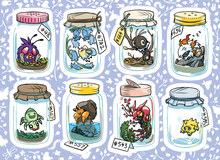 Load image into Gallery viewer, POKEBUGS Bug-Type Pokemon Vinyl Sticker Sheet