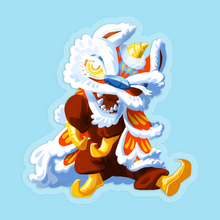 "Load image into Gallery viewer, Dancing Lion 3.5"" Vinyl Sticker"